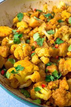 Aloo Gobi Perfectly spiced, tender Indian meatballs with a creamy sauce. Aloo Gobi Perfectly spiced, tender Indian meatballs with a creamy sauce. – Aloo Gobi Perfectly spiced, tender Indian meatballs with a creamy sauce. paleo, and dairy – Aloo Gobi, Gobi Recipes, Indian Food Recipes, Aloo Recipes, Healthy Indian Food, Indian Vegetarian Recipes, Indian Food Menu, East Indian Food, Lentil Recipes