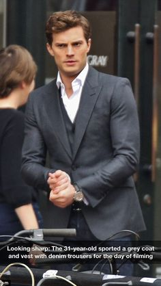 Jamie Dornan Dakota Johnson Dance For Fifty Shades Of Grey Photo And Share A Sweet While Filming Scene Their