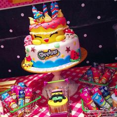 shopkins party + birthday #cake   Dessert Table & Candy Bar ...