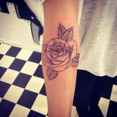 Design and tattoo by me. Simple rose tattoo by Christmas Snow