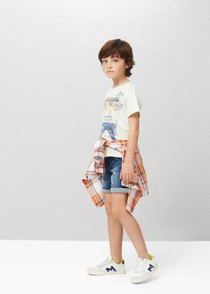 aee977d843 T-shirt algodão imagem - Menino. MangoBeautiful BoysJeansBabyT ...