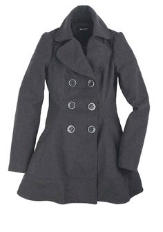 I want a heather grey winter coat, but I cant find one that I love. This one comes pretty close.     Skirted Coat at Alloy