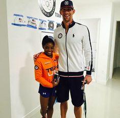 Simone Biles & Michael Phelps                              …