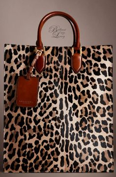 Burberry Prorsum Spotted Animal Print Tote