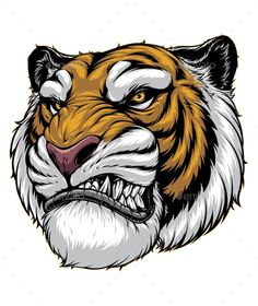 Buy Ferocious Tiger Roars by on GraphicRiver. Vector graphics Install any size without loss of quality. Tiger Vector, Dog Vector, Vector Art, Cute Tiger Cubs, Cute Tigers, Tiger Roaring, Small Chest Tattoos, Lion Illustration, Nature Vector