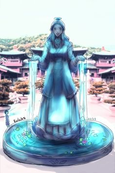 """avatrashh: """" Katara Statue Suddenly realized she didn't have her own statue which is not fair. one of her statues placed in front of republic city center of medical (also because I am lazy.I edit.<< it is amazing Avatar Aang, Avatar Airbender, Avatar Legend Of Aang, Team Avatar, Legend Of Korra, Zuko, Magia Elemental, The Last Avatar, Avatar World"""