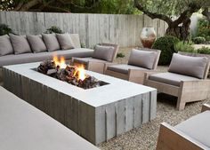 Exterior Design, Outdoor Living Spaces, Fire Pit and Lounge Chairs