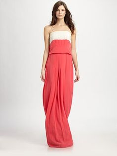 Sachin + Babi Bridgette Pleated Maxi Dress
