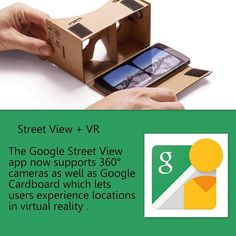 An awesome Virtual Reality pic! When inside the street view app one needs to press the cardboard icon in order to activate the dual screen view. By using the gaze control and the magnet on the side it is possible to 'teleport' within this vr mode.  #google #vr #virtualreality #cardboard #streetview #maps #googlemaps #playstore #hmd #tech #future #technology #360degrees #panorama #technews #navigation #solipsism_vr by solipsism_vr check us out: http://bit.ly/1KyLetq