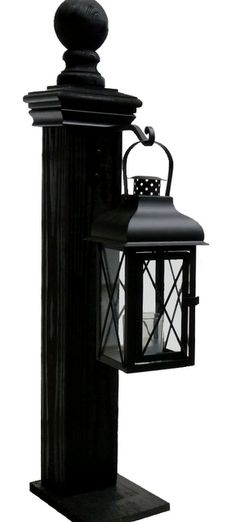 Lantern Post ~ these will look great in my backyard!