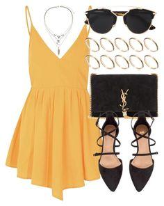 Dress mostaza Zapatillas negro