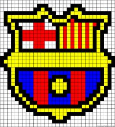 Learn to make your own colorful bracelets of threads or yarn. Hama Beads, Easy Pixel Art, Alpha Patterns, Folk Embroidery, Real Madrid, Superhero Logos, Knitting Patterns, Crafts For Kids, Projects