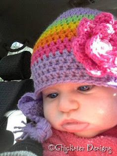 Quick #Crochet 3 to 6 month old Baby Beanie: free pattern