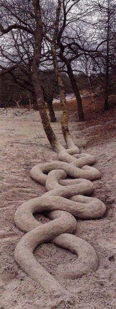 It's sculpted sand, fools...