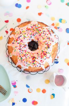 "Donut Cake .This donut cake recipe is the perfect excuse to say ""oh okay, just one donut."" Yum."