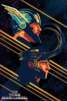 Art Print: Thor: Ragnarok - Thor, Loki : 18x12in