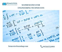 Mathematics for Engineering Technicians - Semester Learning & Development Ltd Mechanical Engineering Technician, Complex Numbers, Engineering Courses, Calculus, Engineers, Higher Education, Problem Solving