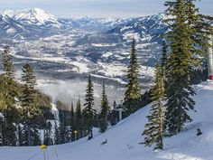 Skiing at Fernie, B.C. The wall of jagged limestone peaks behind Fernie Alpine Ski Resort in British Columbia will take your breath away.