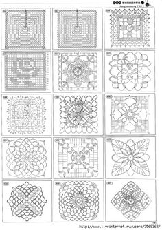 lots of patterns for granny squares