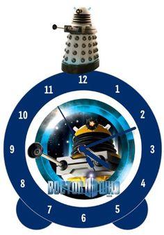 Dalek Topper Alarm Clock - fantastic light and sound alarm clock. Christmas Gifts For Boys, Dalek, Dr Who, Tardis, Alarm Clock, 1, Projection Alarm Clock, Alarm Clocks