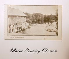 The Old Mill at Levant Maine Antique Postcard