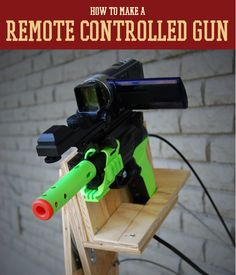 How To Make A DIY Remote Control Gun   Super stealthy and cool. You've never seen anything like this amazing prepper project. #SurvivalLife