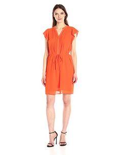 Anne Klein Women's Flutter Sleeve Pleat Front Tie Waist Dress - http://www.darrenblogs.com/2017/04/anne-klein-womens-flutter-sleeve-pleat-front-tie-waist-dress/