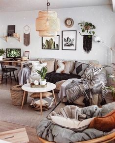New Stylish Bohemian Home Decor Ideas Boho Living Room, Living Room Decor, Home Decor Bedroom, Diy Home Decor, Interior Design Living Room, Living Room Designs, Decor Inspiration, Decor Ideas, Deco Boheme