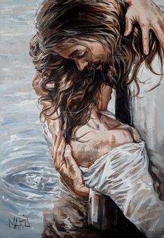 Braut Christi, Jesus Artwork, Jesus Drawings, Pictures Of Jesus Christ, Christian Artwork, Jesus Christus, Jesus Painting, Bride Of Christ, Prophetic Art