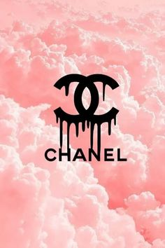 Chanel clouds /pink wallpaper