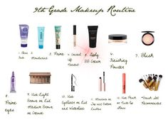 9th Grade Makeup Routine By Sweet Cakes101 On Polyvore Featuring Beauty Clean