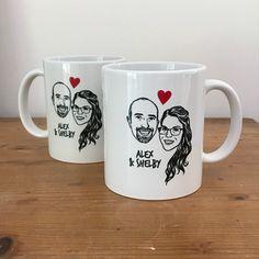 Mug personnalisé portrait de couple cadeau de mariage décoration