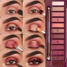 pink shimmy eyeshadow looks ideas step by step for beginners, eye makeup for pro. - pink shimmy eyeshadow looks ideas step by step for beginners, eye makeup for prom, eye makeup look - Prom Eye Makeup, Eye Makeup Steps, Smokey Eye Makeup, Wedding Makeup, Natural Eyeshadow, Eyeshadow Looks, Makeup Eyeshadow, Eyeshadow Ideas, Eyeshadow Blue Eyes