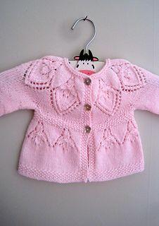 Ravelry: Sylvie Cardi pattern by Suzie Sparkles. Baby cardi knitting pattern, girls cardigan knit pattern, top down knitting, seamless knitting, one piece.