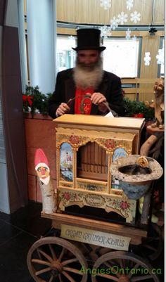 Kitchener Christkindl Market  Klaus the Organ Grinder.