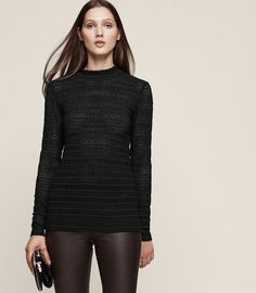 REISS - TULLULAH LACE TOP