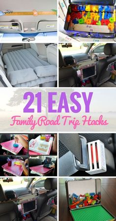 "21 Simple Hacks that are designed to make it easier to resist the urge to tell the kids that ""they better shut the hell up back up there!"" Road Trip 21 Easy Family Road Trip Hacks That Will Make Travelling More Fun Road Trip With Kids, Family Road Trips, Camping With Kids, Travel With Kids, Family Travel, Family Vacations, Road Trip Toddlers, Road Trip Packing, Road Trip Essentials"
