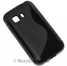 SSYL CUSTODIA SILICONE S-LINE TPU COVER BACK CASE SAMSUNG GALAXY YOUNG 2 NERA BLACK NEW NUOVA - SU WWW.MAXYSHOPPOWER.COM