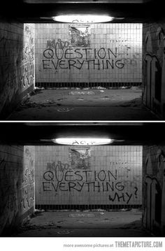 Question everything...including the people who told you to question everything.