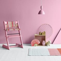 Interact more with your child around the kitchen table with @stokkebaby's #TrippTrapp sturdy children's chair that grows with your child. It lifts them up so they can be included in activities around the table. Pre-order our new colors now! #kidsland #stokke #babies #kids  #highchair