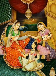 30 Beautiful Indian Mughal Paintings for your inspiration mughal paintings women Mughal Miniature Paintings, Mughal Paintings, Tanjore Painting, Indian Art Paintings, Colorful Paintings, Beautiful Paintings, Indian Artwork, Indian Prints, Beautiful Drawings