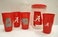 Alabama Cup and Pitcher Set Alabama by TheGreenGiftCompany on Etsy, $25.00