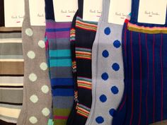 Paul Smith socks are a great way to brighten up any work day meeting.