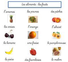 Delfynus - Une maitresse qui vous veut du bien: Les fruits et les légumes
