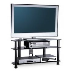 """Essentials TV Stand in Black For 42"""" TVs by Alphason"""