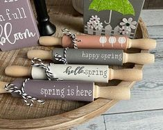 Farm Crafts, Easter Crafts, Crafts To Make, Diy Crafts, Summer Crafts, Holiday Crafts, Farmhouse Rolling Pins, Farm Holidays, Dollar Tree Crafts