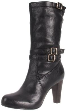 The Frye Women's Miranda Boot has three buckle straps that add a touch of class. And a 3.5 inch heel helps too. Available in several colors.