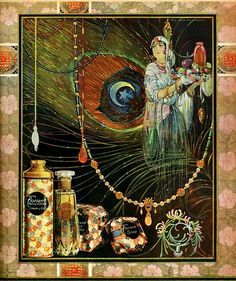 beautiful art nouveau ad for florient perfume