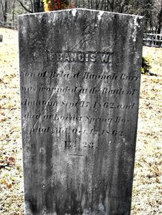 Francis W. Burr, a 23-year-old private in Company G of the 16th Connecticut, suffered a wound to his groin in John Otto's cornfield at Antietam. He died at Crystal Spring Hospital near Keedysville, Md., on Oct. 12, 1862. This is his marker in Higganum-Burr Cemetery in Higganum, Conn. Burr, however, may be buried in Antietam National Cemetery. Tombstone Sayings, Crystal Springs, National Cemetery, Military Service, Connecticut, Monuments, Soldiers, Marker, War