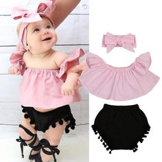 Baby Clothing Set,3pcs Infant Baby Girls Denim Jumpsuit Romper Leopard Print Shorts Headbands Outfits Clothes for 3-24 Months